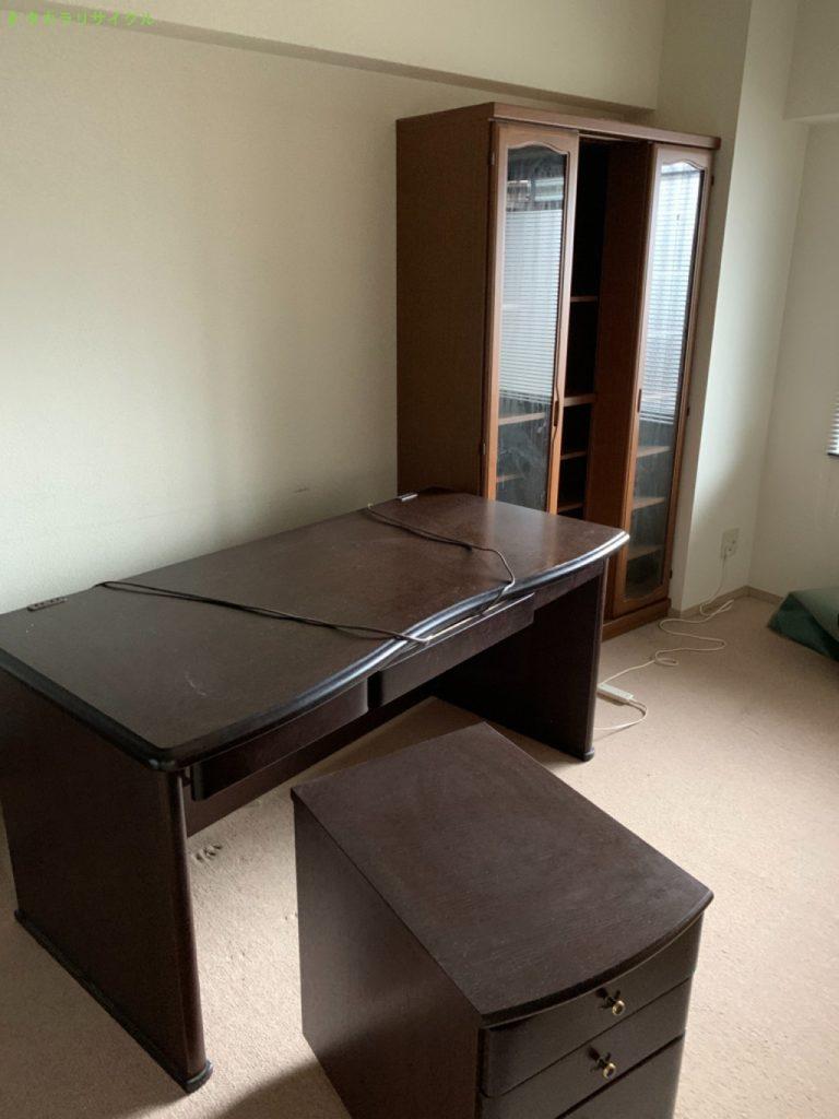 【大津市柳川】書斎机・書棚ほか家具家電の回収のご依頼者さま