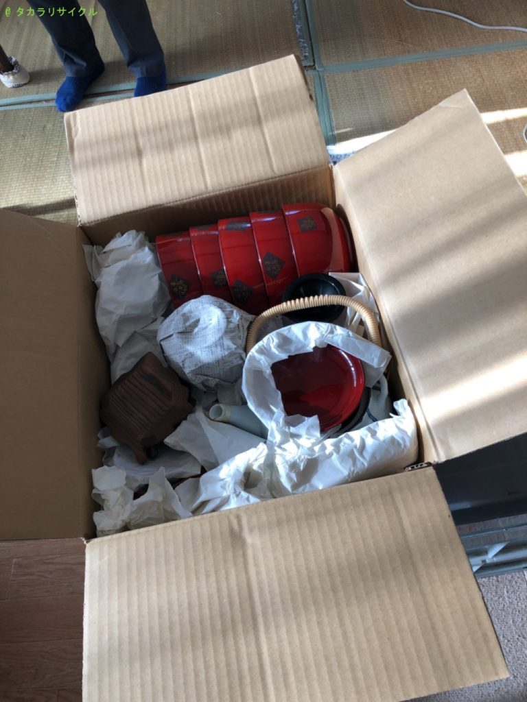 【近江八幡市中村町】食器類の処分・回収のご依頼者さま